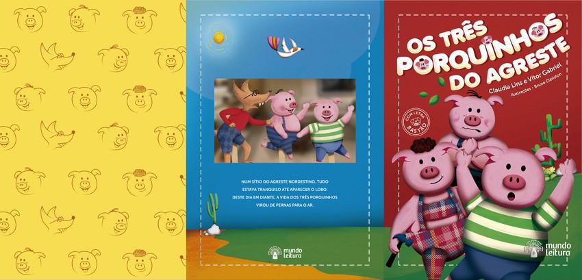 Os Tres Porquinhos Do Agreste Mundo Leitura Editora