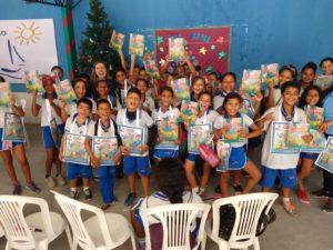Ação Cultural apoiada pelo Sincred Alagoas levou 200 livros e sacolas literárias para comunidade de Maceió