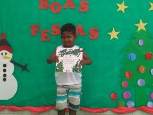 Pedro foi uma das crianças contempladas na creche escola da zona rural do ES