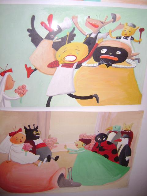 Ilustração do livro O casamento da Dona Baratinha