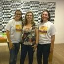 Equipe Ler é Minha Praia, da esquerda para a direita a mediadora Sueli Martins e as autoras Claudia Lins e Simone Cavalcante