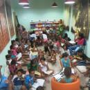 Inauguração de Sala de Leitura e oficina literária atraiu  mais de 40 crianças