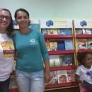 Suely Martins com a presidente da Associação do Peixe-Boi, Flávia Rego