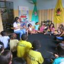 crianças de Palmeira dos Índios assistem a contação de histórias