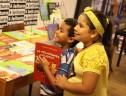 crianças em oficina da Livraria Leitura